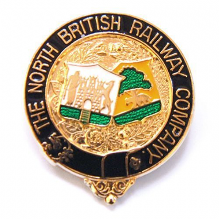 North British Railway Coat Of Arms Collectors Badge